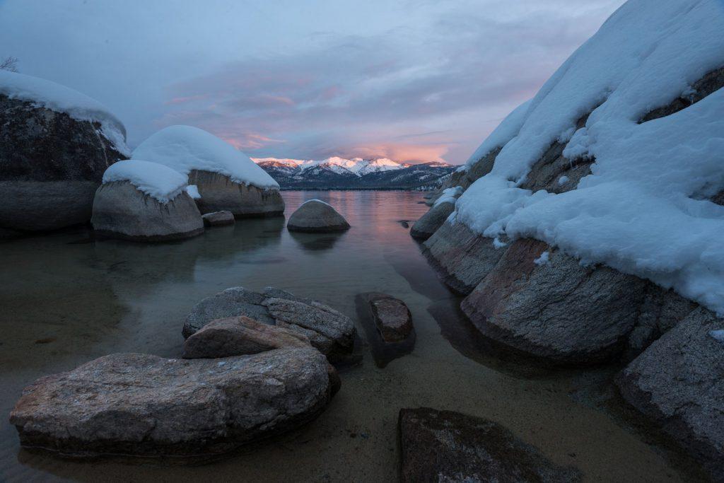 lake tahoe in winter