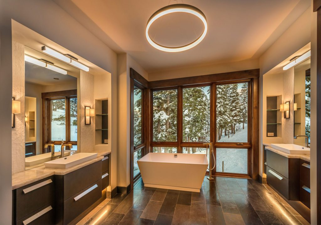 bathroom with views