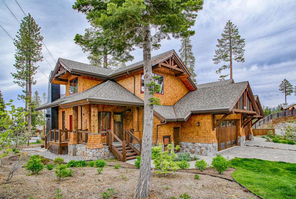 Lake Tahoe Truckee luxury real estate townhomes exterior shot during summer