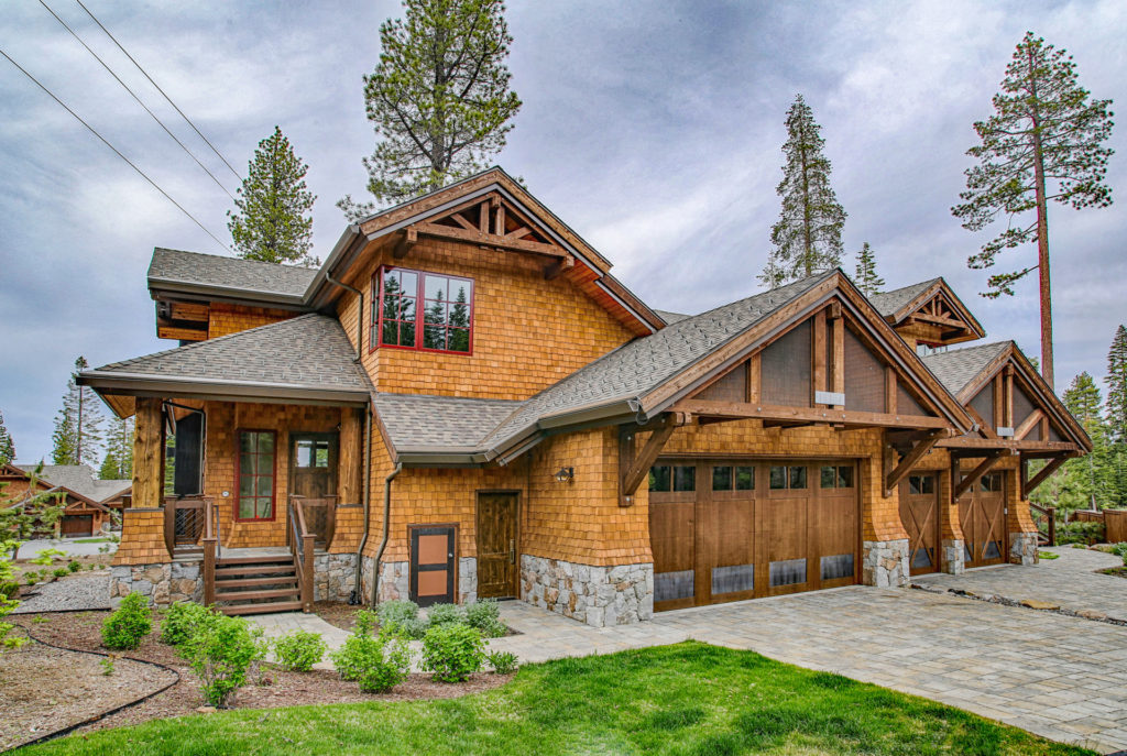 Lake Tahoe Truckee luxury real estate townhomes exterior photo during summer