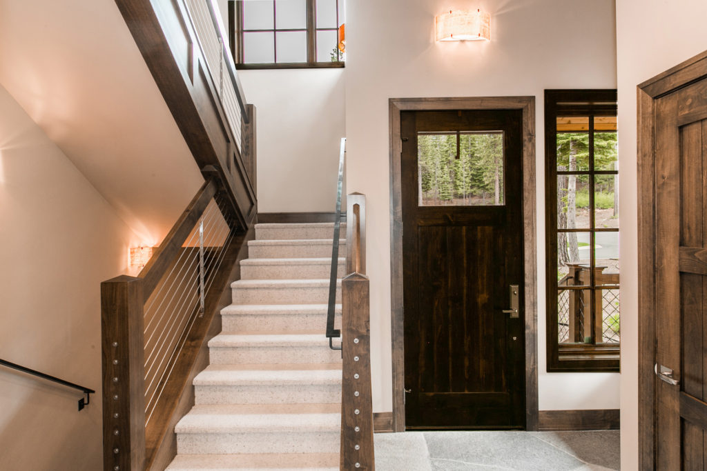 Lake Tahoe Truckee luxury real estate townhomes interior stairway