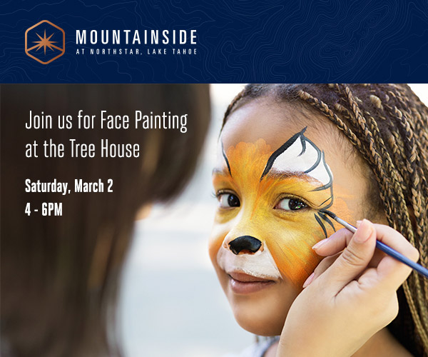 mountainside treehouse face painting